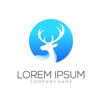 Resumen de vector de diseño de logo de ciervos