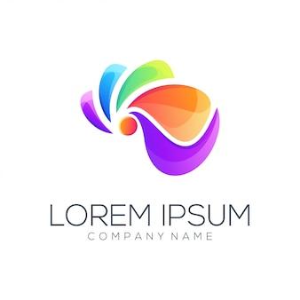 Resumen de vector de diseño de logotipo completo de color