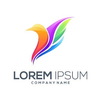 Resumen de vector de diseño de logotipo de pájaro