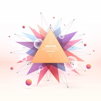 Resumen vector verano colorido fondo poligonal mezclado