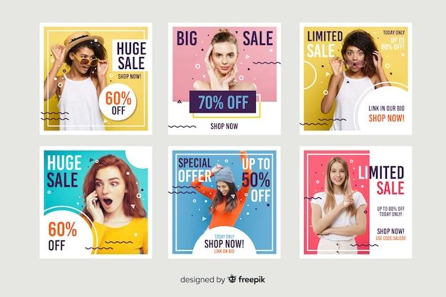 Resumen venta instagram post colección con foto