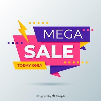Resumen ventas coloridas con banner flash
