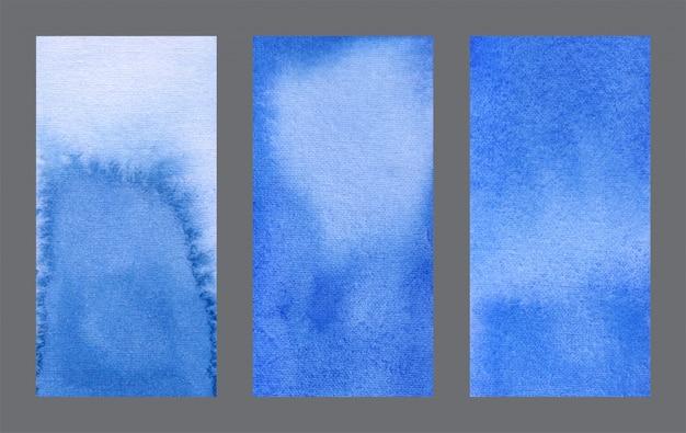 Resumen web azul banner acuarela fondo conjunto