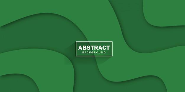 Resumen web verde y vector banner.
