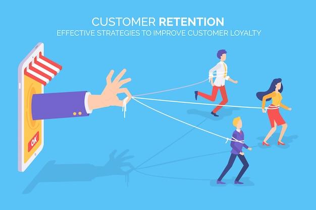 Retención de clientes, mejorando la lealtad del cliente
