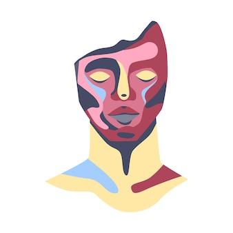 Retrato abstracto de la escultura de arte moderno