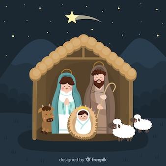 Retrato adorable natividad