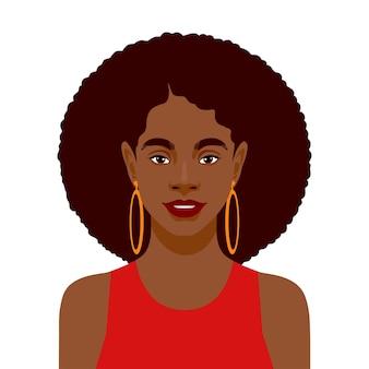 Retrato de hermosa mujer africana.