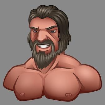 Retrato de hombre con barba