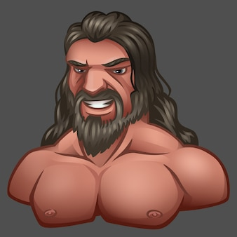 Retrato de hombre con cabello largo