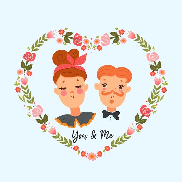 Retrato de una linda pareja. estado de ánimo del día de san valentín.