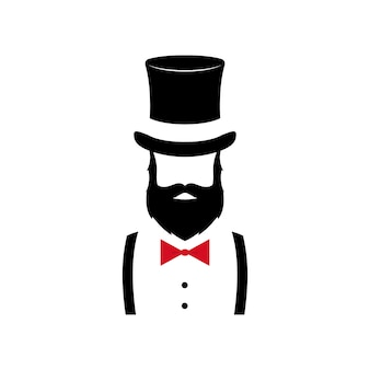 Retrato minimalista de caballero.