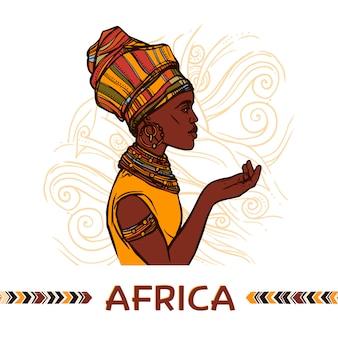 Retrato de mujer africana