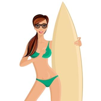 Retrato de niña surfista