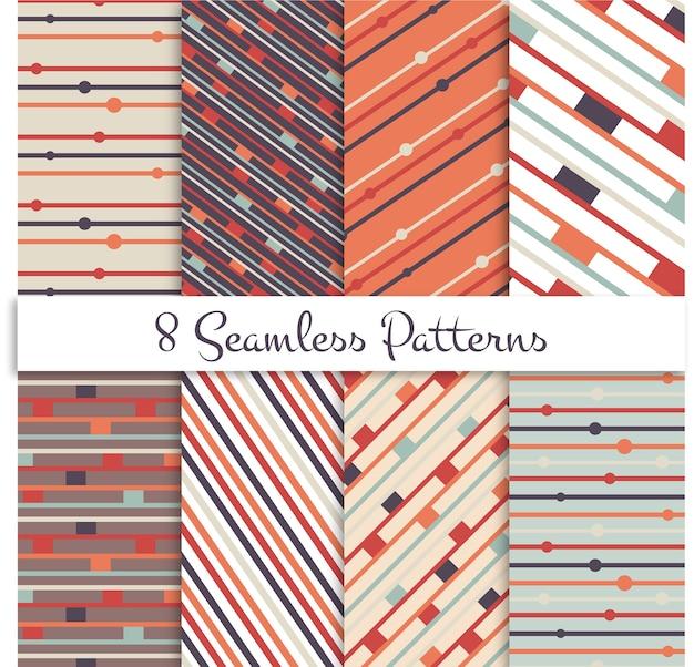 Retro líneas patrones sin fisuras conjunto