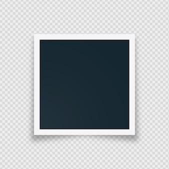 Retro marco de fotos instantáneo en blanco