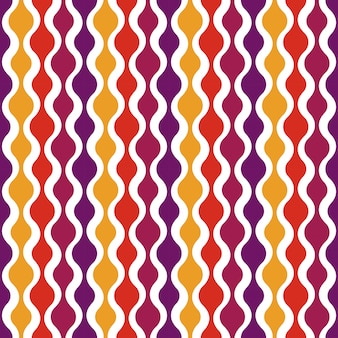 Retro patrón sin costuras - diseño nostálgico