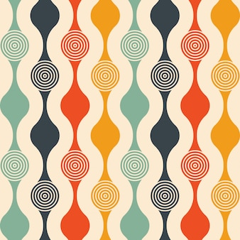Retro de patrones sin fisuras con círculos