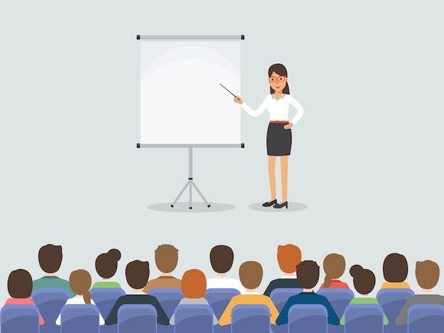Reunión de empresarios y empresarias.