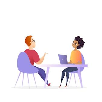 Reunión de entrevista de trabajo