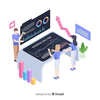 Reunión de negocios en el diseño de ilustración de la oficina