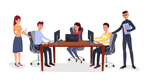 Reunión de negocios, gestión de equipos.