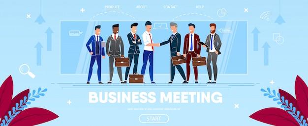 Reunión de negocios del grupo de personas dándose la mano.