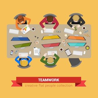 Reunión de negocios, trabajo en equipo