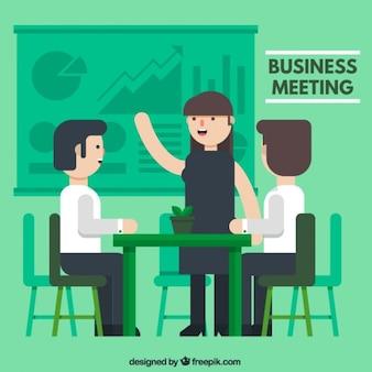 Reunión de negocios verde