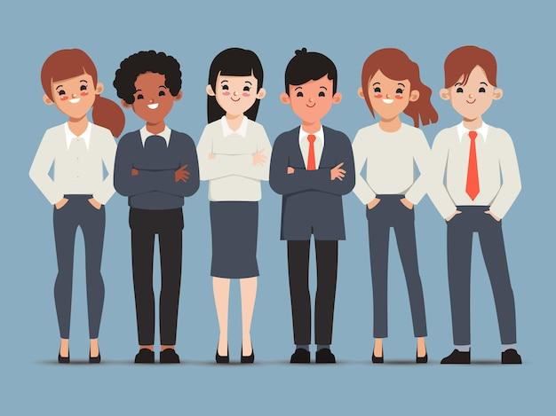 Reunión de seminario de trabajo en equipo de personas de negocios en grupo