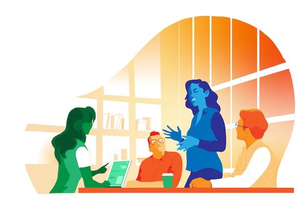 Reunión y trabajo en equipo