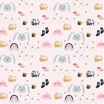 Revelación de género de una niña - patrón
