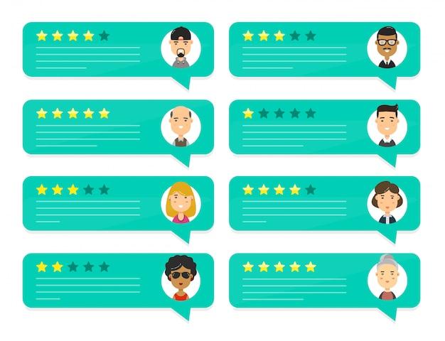 Revise los discursos de burbujas de calificación de personas
