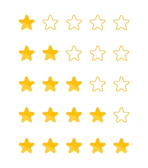 Revisión del cliente realimentación. calificación de estrellas.