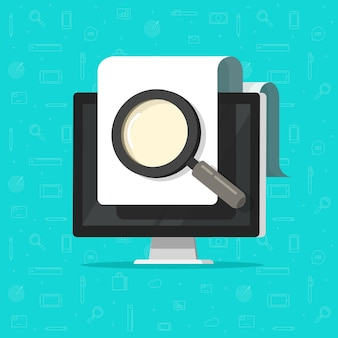 Revisión de inspección de documentos electrónicos digitales