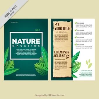 Revista ecológica con hojas de jungla