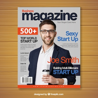 Revista de negocios con imagen