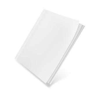 Revista plantilla en blanco