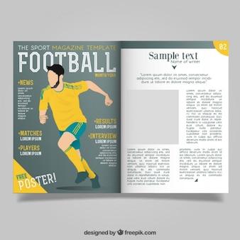 Revista con reportaje de fútbol