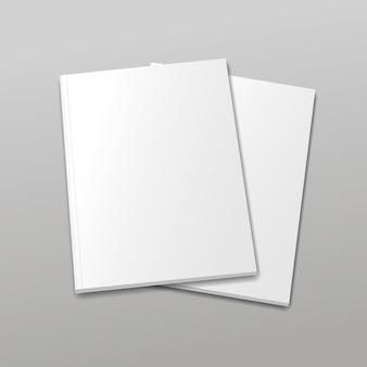 Revista vacía en blanco o portada del libro