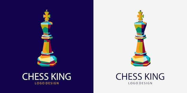 Rey del ajedrez logo