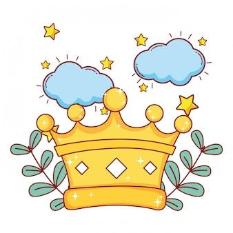 Rey corona de dibujos animados
