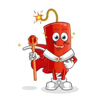 Rey de la dinamita. personaje animado