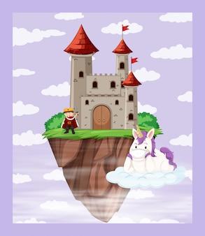 Rey en la escena del castillo