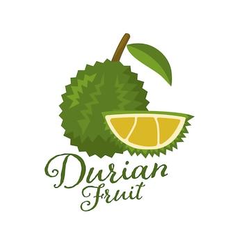 Rey de frutas, ilustración de durian