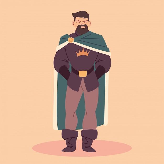 Rey, hombre con túnica real, monarca