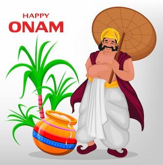 Rey mahabali, feliz festival de onam en kerala