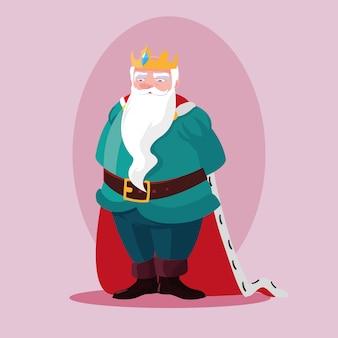 Rey personaje de avatar mágico de cuento de hadas