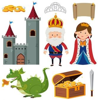 Rey y reina en el castillo