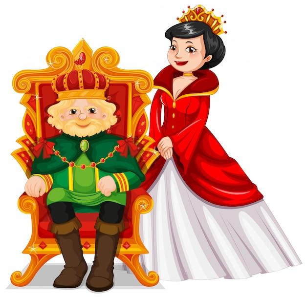Rey y reina en el trono